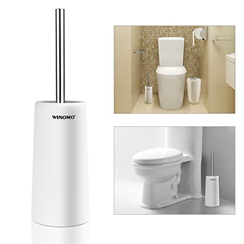 WINOMO Toilet Brush and Holder for Bathroom Toilet (White)