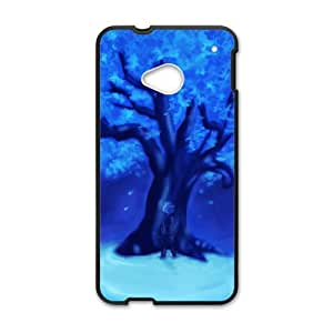 Blue crystal tree Phone Case for HTC One M7