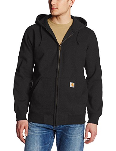 - Carhartt Men's Rain Defender Paxton Heavyweight Hooded Sweatshirt, Black, X-Large