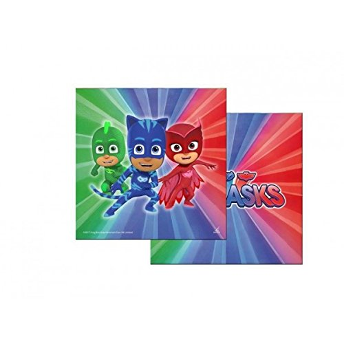 PJ Masks - Héroes en pijamas - Set decoración para fiestas. Kit nº 3 Cdc (40 platos, 40 vasos, 40 servilletas): Amazon.es: Hogar