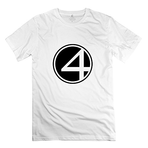 fantastic-four-logo-nerd-casual-white-tee-shirts-for-guys-size-l
