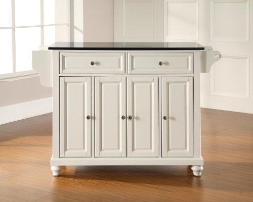 Crosley Furniture Cambridge Kitchen Island with Solid Black Granite Top - (Large Black Granite Top)