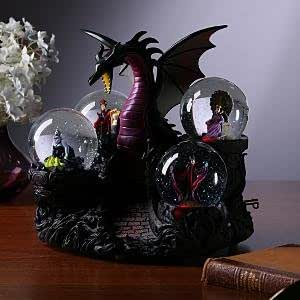 Amazon Disney Villains Snowglobe Snow Globe Dragon