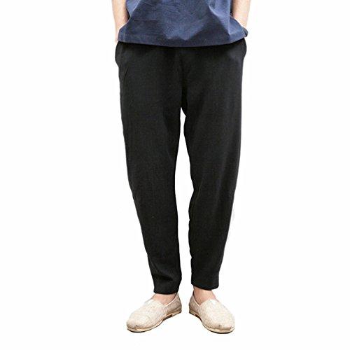 Coton Sarouel Slim Léger Chino Lin Tienew Fit En Pantalon Casual Baggy Coupe Confortable Mélange Respirant Noir Décontracté 2018 Homme Léger Pantalons 5qnq4TxO