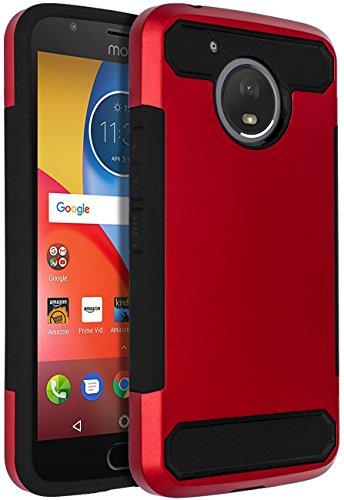 Moto E4 Plus Case,SENON Slim-fit Shockproof Anti-Scratch Anti-Fingerprint Protective Case Cover for Motorola Moto E4 Plus USA Version,Red