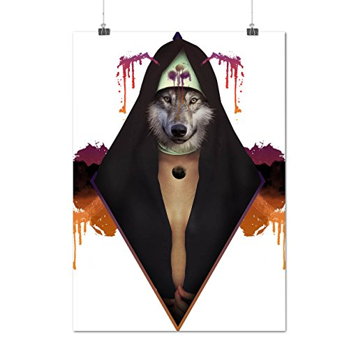 Magical Wolf Man Animal Wizard Matte/Glossy Poster A3 (12x17 inches) | Wellcoda ()