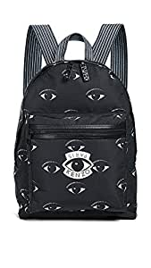 KENZO Men's Nylon Eyes All Over Backpack, Black, One Size