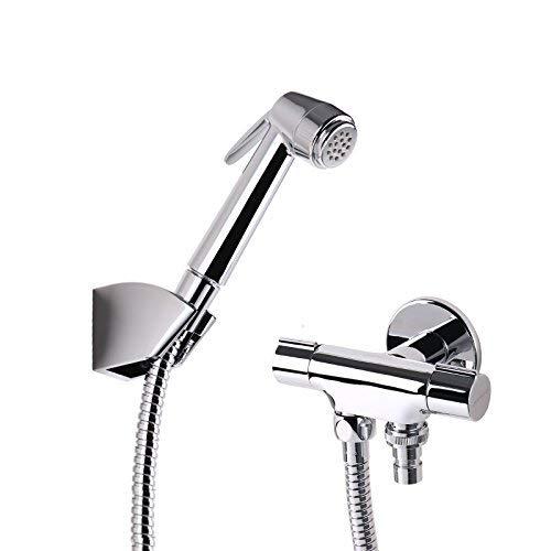Eeayyygch Dreiwege-Eckventil Vollkupfer Verdickung EIN-In Zwei Wasserventil WC Sprühpistole 4 Punkte Waschmaschöne Wasserhahn Wasserabscheider,