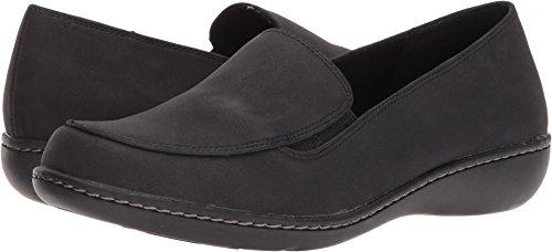 Soft Style by Hush Puppies Women's Jaylene Oxford, Black Nubuck, 10 W (Hush Puppies Oxford Heels)
