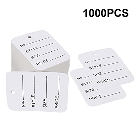 98e5c1e5301e Price Tags,Clothes Tags,Merchandise Marking Tags,White Paper Price Clothing  Tag Labels,Box of 1000