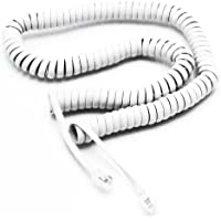 Telephone Cord Handset Curly - Phone Color Choctaw White 25ft - Works on virtually all Trimline Phones and Princess Telephones - Landline Telephone Accessory iSoHo Phones