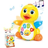 JOYIN Dancing Walking Yellow Duck Baby Toy with Music and LED Light Up for Infants, Toddler Interactive Learning Development, School Classroom Prize and Children