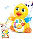 Toys : JOYIN Dancing Walking Yellow Duck Baby Toy with Music and LED Light Up for Infants, Toddler Interactive Learning Development, School Classroom Prize and Children