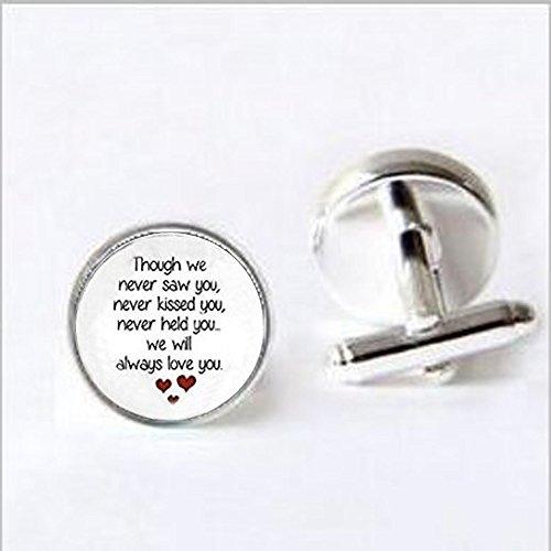 (Miscarriage Keepsake Pendant cufflinks - Loss of Unborn Baby - Miscarriage Necklace - Miscarriage Remembrance cufflinks ...)