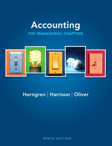 Accounting: The Managerial Chapters