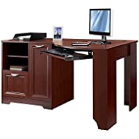 Realspace Magellan Collection Corner Desk, Classic Cherry