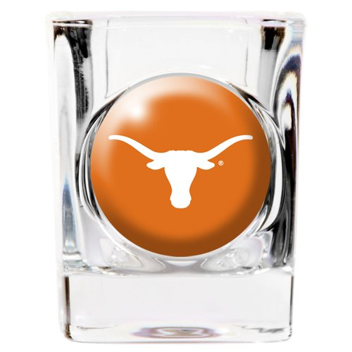 Texas Longhorns Square 2oz Shot - Glass Longhorns Texas Square Shot
