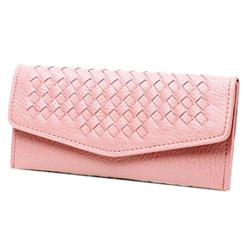 la Femmes Haoling PU de En Cuir Mode D'embrayage pink Doux Monnaie Longue Femelle Sac Dames Mince Titulaire Portefeuilles Monnaie Carte Portefeuilles Porte Porte Portefeuilles FFqZwxr