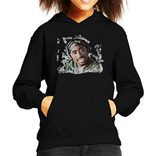 Side Original Clothing West - Sidney Maurer Original Portrait of Tupac Shakur Kid's Hooded Sweatshirt
