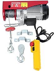 Samger 1200W 300/600KG Polipastos Electricos para Garaje Auto Tienda Talleres 220V Guinche Electrico Cable para Elevador Electrico