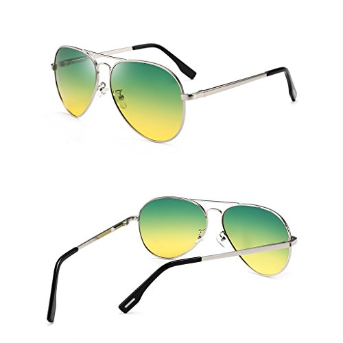 Hombre Clásico Aplican Wayfarer Y Metal Gris Hombre Gafas De Alloy Polarizadas Día Frame De HAIYING Sol Noche Protection Plata Light Taiyangjing Sol Gafas Gemelos Color Ultra Zinc La Se Driving wX86TxBq