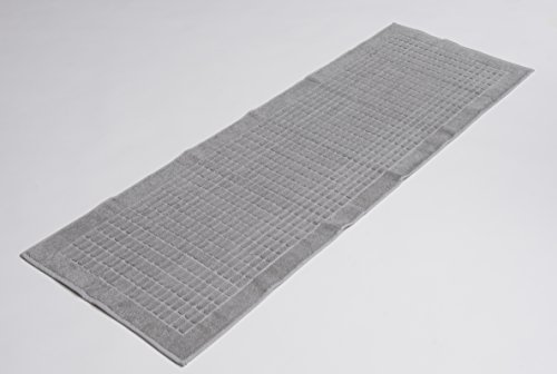 Ottomanson Reversible Cotton Washable Banded Bath Mat Rug, 20 X 59 (Grey Bathroom Runner)