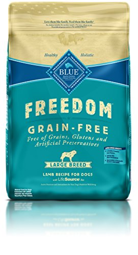 Blue Buffalo Freedom Grain-Free Recipe for Dog, Adult Lamb Recipe Large Breed Grain Free, 24 lb (Breed Adult Lamb)