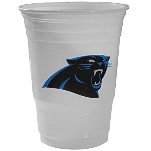 NFL Siskiyou Sports Carolina Panthers Plastic Game Day Cups, 18 Count, (18 oz) Team Color