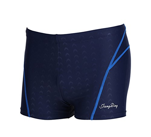 Mens Swimsuit Jammer Boxers Swimwear Trunks Quick Drying Waterproof Comfortable Shorts for Competition (Blue04, ()