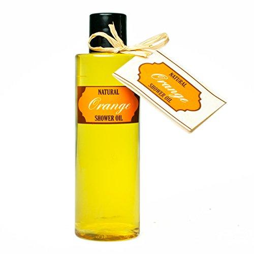 100% Natural Duschöl mit Orangeöl (200 ml) mit Shea und ohne Seife! 7 Naturöle in einem!