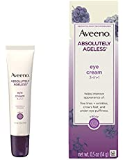 Aveeno Absolutely Ageless 3-in-1 Under Eye Dark Circle & Anti-Wrinkle Cream with Antioxidant-Rich Blackberry Complex, Vitamins C & E, Hypoallergenic, Non-Comedogenic & Non-Greasy, 0.5 oz