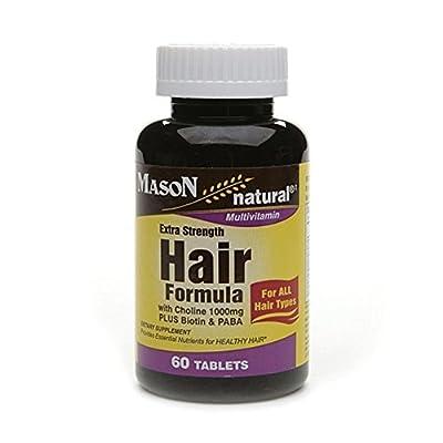 Mason Extra Strength Hair Formula/choline 1000mg PLUS Biotin and PABA 60 EA
