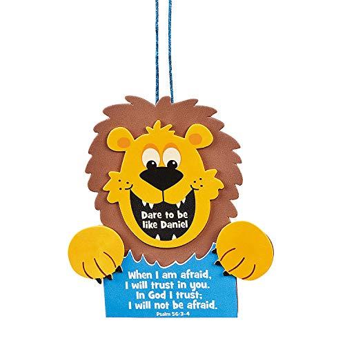 Fun Express - Dare to Be Daniel Foam Sign ck - Craft Kits - Hanging Decor Craft Kits - Sign Decoration Craft Kits - 12 Pieces