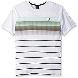 Zoo York Men's Short Sleeve Vertigo Crew Knit Shirt, White, Large