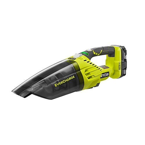 Ryobi P714K One plus 18 Volt Lithium Ion Cordless Wall Mounted Dry Hand Vacuum Kit (3 Pieces  1 x Ryobi P714K Vacuum, 1 x Ryobi P102 1.3AH Lithium Ion Battery, 1 x Wall Mount Charger), Green