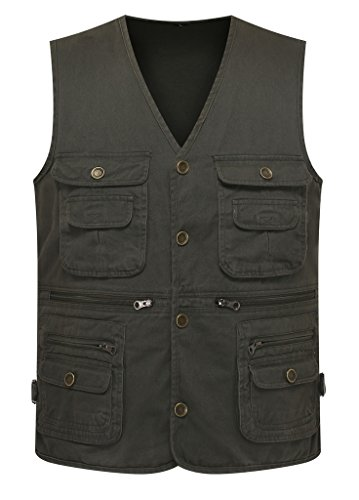 U s a free shipping wantdo men s multiple pockets cotton for Fishing vest amazon