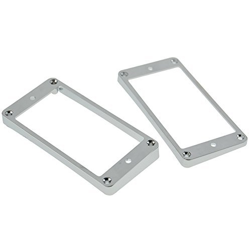 A Set of 2 Curve Plastic Humbucker Pickup Frame Mounting Ring 4mm Thick Chrome Pickup Frame