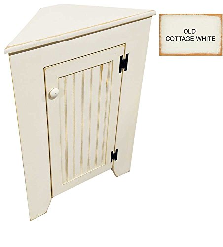 Cottage Cupboard - Sawdust City Kitchen Corner Cupboard (Old Cottage White)