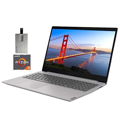 2020 Lenovo IdeaPad 15.6″ FHD LED Laptop Computer, AMD Ryzen 3-3200U Processor, 12GB RAM, 256GB PCIe SSD, Dolby Audio, AMD Radeon Vega 3 Graphics, Webcam, HDMI, Win 10 S, Gray, 32GB Snow Bell USB Card