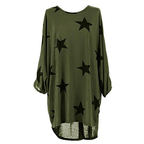 VLUNT - Camiseta - para mujer Ejercito Verde