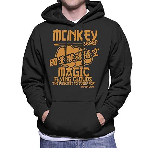 Flying Monkeys Hooded Sweatshirt - NBUQSG Monkey Magic Flying Clouds The Pukiest to Every Pop Men's Hooded Sweatshirt