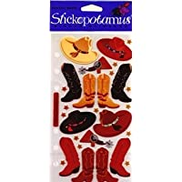 Sticko Bulk Buy Classic Stickers Cowboy Hats and Boots SP-PC08 (6-Pack)