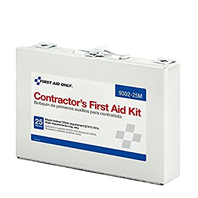 First Aid Only Contractor's First Aid Kit, Metal Case, 3.61 Pound from First Aid Only