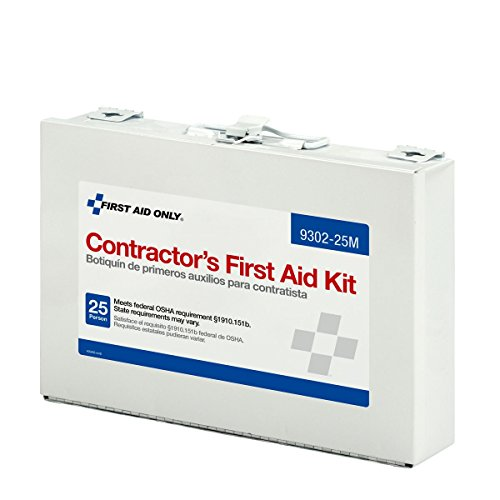 Pac-Kit by First Aid Only Contractor's First Aid Kit, Metal Case, 3.61 Pound (Best Job Sites For College Grads)