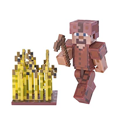 Minecraft Series 3 Action Figure (3 Inch) Steve In Leather Armour by Jazwares