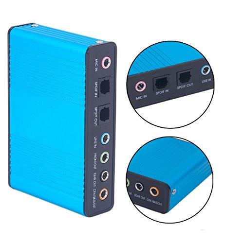 External Sound Card USB 7 Channel 5.1 External Audio