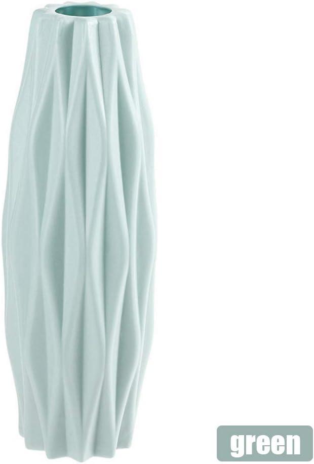 Verde Vaso in Ceramica Finta Vaso Stile Nordico Vaso anticaduta Vaso da Fiori Vasi Decorativi con Fiori secchi Fenghong Vaso