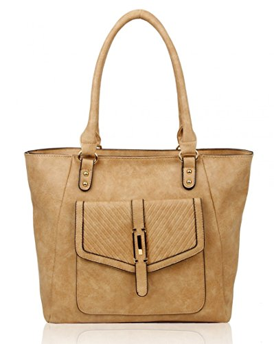 Large Cw14128 Women Office School Almond Shoulder Leahward For Faux Holiday Leather Handbags Size Bag T7xqd