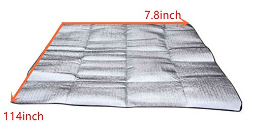 Moisture-Proof, Insulated Tent Footprint Pad for Camping (L)