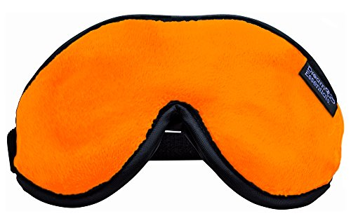 Dream Essentials Escape Luxury Sleep Mask with Eye Cavities, Earplugs and Carry Pouch (Orange) by Dream Essentials